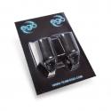 Pakiet 2 silikonowych nakładek na rury EGO Biogrip (model prosty), kolor: czarny - rury do fi 19MM