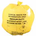 Żółte worki na odpadki medyczne, 50 szt.