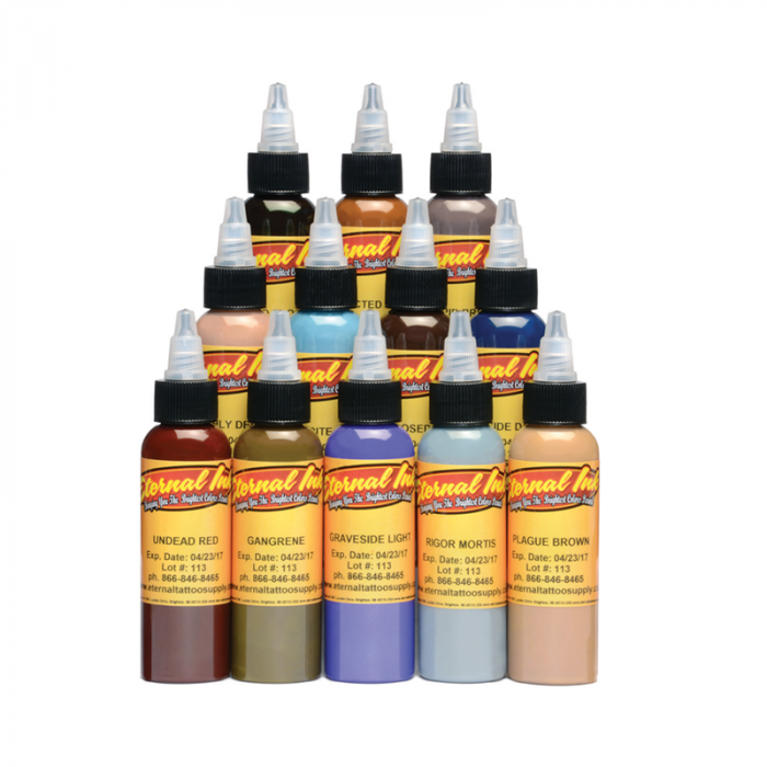 Eternal Ink Zombie - Kompletny zestaw 12 farb (30ml)
