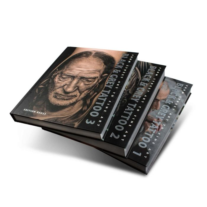 """Książka: """"Black & Grey Tattoo"""", komplet tomów 1-3 (Edition Reuss)"""