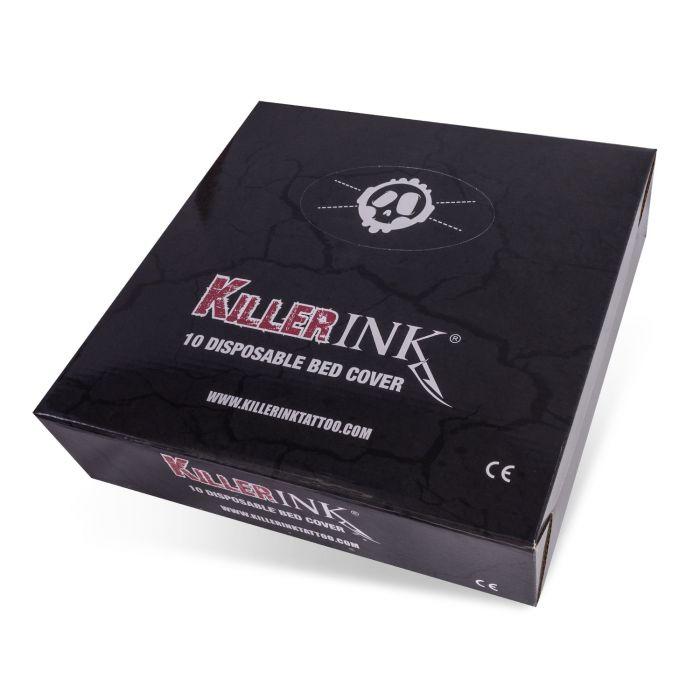 Osłony na leżankę z gumką Killer Ink, 210x90x20cm - 10 szt.
