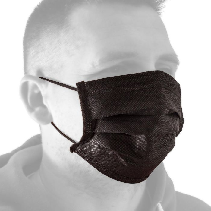 Maseczki ochronne czarne Killer Ink Black Line - 50 szt.