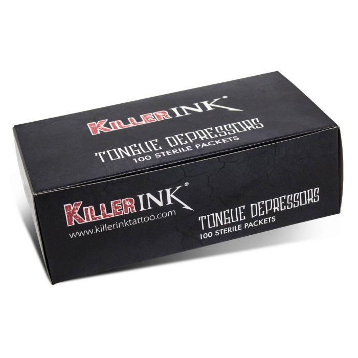 Sterylne szpatułki Killer Ink w sterylnych opakowaniach jednorazowych - 100 szt.
