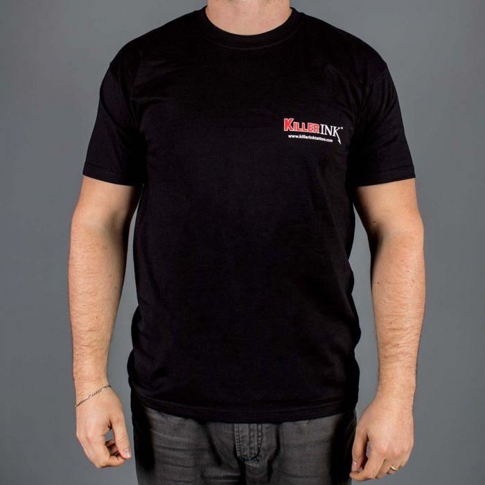 T-Shirt z wycięciem okrągłym z logo Killer Ink, kolor: czarny