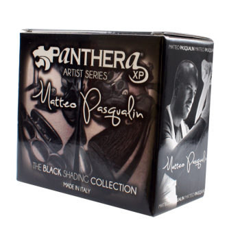 Zestaw farb do tatuażu Panthera Matteo Pasqualin - The Black Shading Collection 8 x 30ml