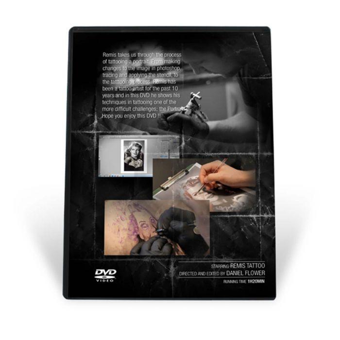 "DVD: ""Remis Black & Grey Portrait Tattooing"""