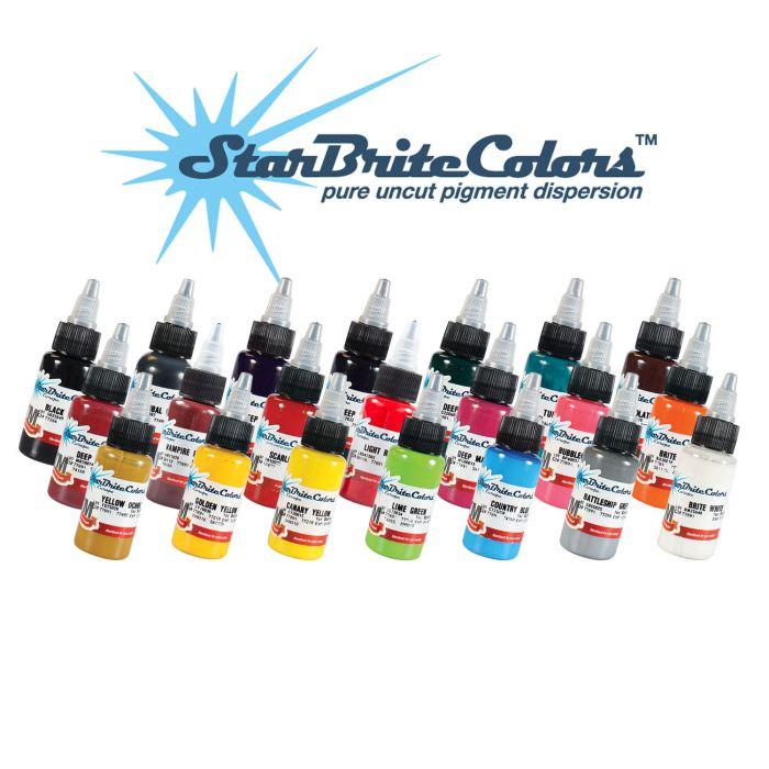 Zestaw farb do tatuażu Starbrite Europe Colors 23 x 30ml