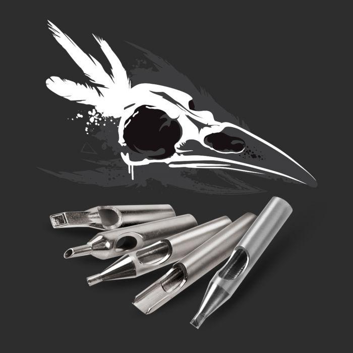 Zestaw dziobów Killer Ink ze stali nierdzewnej 316 - Premium/36szt. - Okrągłe + Diament + Magnum